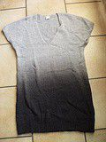 Robe/Pull manches courtes Gris/noir
