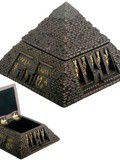 Egyptian Small Bronze Pyramid Trinket Box Egypt Jewelry Container