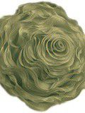 Hayley Rose Chiffon Decorative Throw Pillow - 16 Inch Round - Sage Green