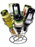 Oenophilia 6-Bottle Bouquet Wine Rack, Gun Metal Finish