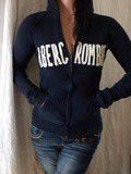 Hoodie Blue Navy Classic Abercrombie
