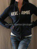 Sweat jacket Abercrombie Blue Navy Classic