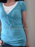 Top turquoise Hollister