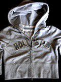Veste courte sweat shirt Hollister 100%
