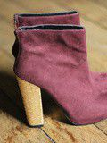 Bottines Bordeaux Talon Paillettes New Look – 40 euros
