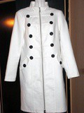Manteau long style officier blanc comme neuf taille 38/40