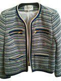 Veste tweed claudie pierlot bleu zip
