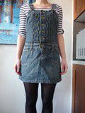 Robe salopette jeans taille 40